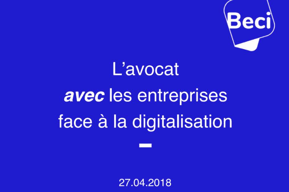 Avocat et digitalisation - Cover