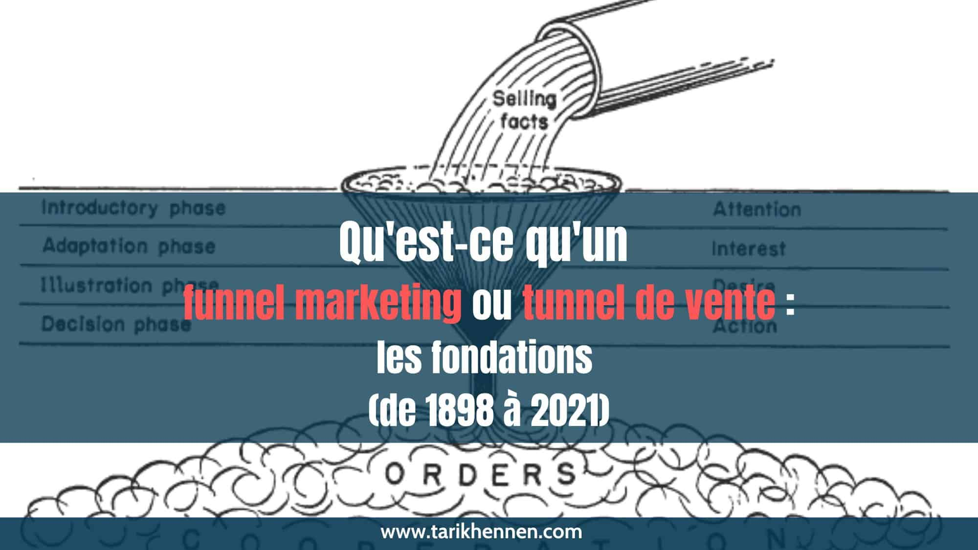 Qu'est-ce qu'un funnel marketing ou tunnel de vente : les fondations (de 1898 à 2021)