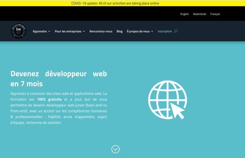 becode formation developpeur web