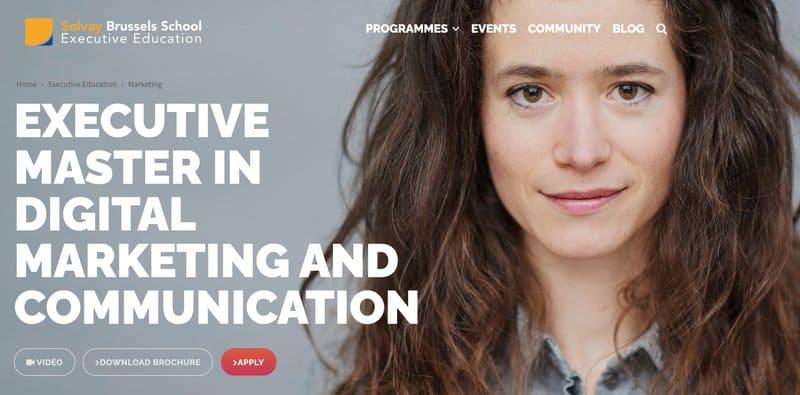 Solvay Executive Master in digital marketing and communication aperçu