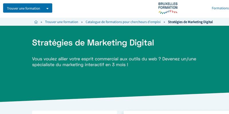 Bruxelles `Formations : Stratégies de Marketing Digital